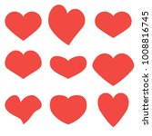 hearts set icons  abstract  art ... | Shutterstock .eps vector #1008816745