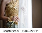 bride in traditional thai... | Shutterstock . vector #1008820744