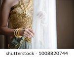 bride in traditional thai... | Shutterstock . vector #1008820744
