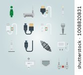 icon set about connectors... | Shutterstock .eps vector #1008820831