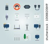 icon set about connectors... | Shutterstock .eps vector #1008820849