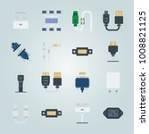 icon set about connectors... | Shutterstock .eps vector #1008821125