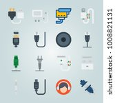 icon set about connectors... | Shutterstock .eps vector #1008821131