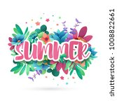 design symbol for summer.... | Shutterstock .eps vector #1008822661