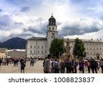 salzburg  austria  july 15.2017 ... | Shutterstock . vector #1008823837