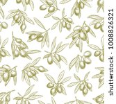 olives seamless pattern of... | Shutterstock .eps vector #1008826321