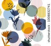 vector botanic silhouette... | Shutterstock .eps vector #1008832741