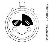 chronometer sunglasses  kawaii...   Shutterstock .eps vector #1008833017