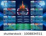 russia 2018 world cup calendar. ... | Shutterstock .eps vector #1008834511