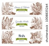herbs and spices organic plant... | Shutterstock .eps vector #1008835264
