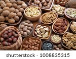 different kinds of nuts in... | Shutterstock . vector #1008835315