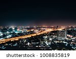 night view of the city.bangkok...   Shutterstock . vector #1008835819