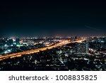 night view of the city.bangkok...   Shutterstock . vector #1008835825