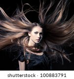 closeup portrait of glamour... | Shutterstock . vector #100883791