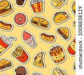 set of vector cartoon doodle... | Shutterstock .eps vector #1008838129