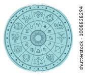 grunge horoscope signs in... | Shutterstock .eps vector #1008838294