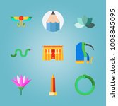 icon set about egypt with snake ... | Shutterstock .eps vector #1008845095