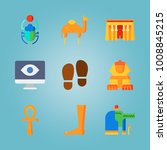 icon set about egypt with bug ... | Shutterstock .eps vector #1008845215