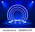 Stage Podium With Lighting ...