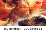 Abstract Red Hot Painting Smok...