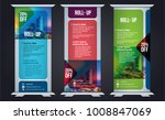 roll up design  vertical... | Shutterstock .eps vector #1008847069