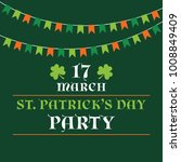 st. patricks day party poster... | Shutterstock .eps vector #1008849409