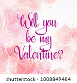 valentine's day greeting card... | Shutterstock .eps vector #1008849484