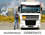 truck driver in chemical... | Shutterstock . vector #1008850651