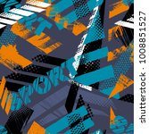 abstract seamless grunge... | Shutterstock .eps vector #1008851527