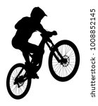 jump athlete rider mtb downhill ... | Shutterstock .eps vector #1008852145