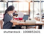 concentrated doctor or nurse...   Shutterstock . vector #1008852631