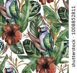 seamless watercolor pattern... | Shutterstock . vector #1008852811