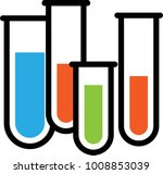 test tube icon vector art... | Shutterstock .eps vector #1008853039