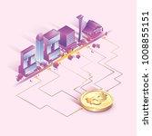 bitcoin concept vector...   Shutterstock .eps vector #1008855151