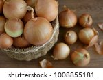 onions are seen from above.... | Shutterstock . vector #1008855181
