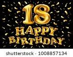 18 years anniversary  happy... | Shutterstock .eps vector #1008857134