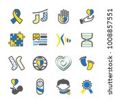 down syndrome day icon set   Shutterstock .eps vector #1008857551