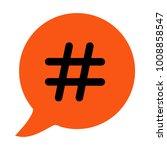 hashtag sign icon vector... | Shutterstock .eps vector #1008858547