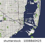 vector map of the city of miami ... | Shutterstock .eps vector #1008860425