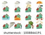 vector flat house insurance... | Shutterstock .eps vector #1008866191