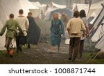 Small photo of Island Wolin, Poland - August 06 2012: Festival of the Slavs and Vikings, reconstructed village of early medieval settlement of the Slav and the Vikings