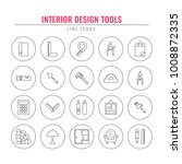 interior design tools. thin... | Shutterstock .eps vector #1008872335