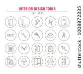 interior design tools. thin... | Shutterstock .eps vector #1008872335