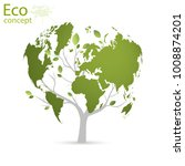 green globe on the tree. tree... | Shutterstock .eps vector #1008874201