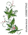 holly holiday design with...   Shutterstock .eps vector #1008875965