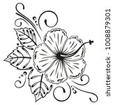 large hibiscus flower with... | Shutterstock .eps vector #1008879301