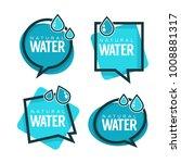 natural water  vector logo ... | Shutterstock .eps vector #1008881317