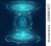 cyber security technology...   Shutterstock .eps vector #1008881677