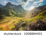 valley view below the mountains ... | Shutterstock . vector #1008884401