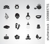 spa  wellnes symbols on white... | Shutterstock . vector #1008885751